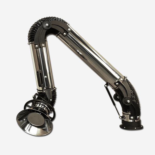 stainless satnding fume arm